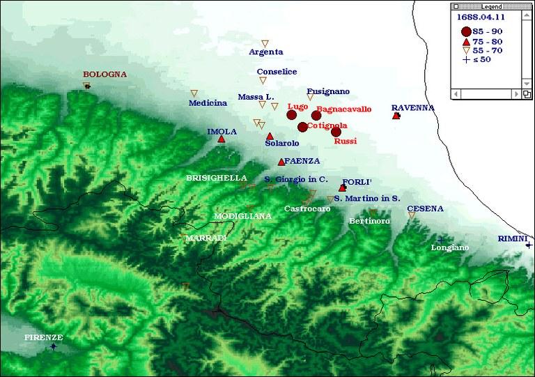 Terremoti del 1688 - Romagna