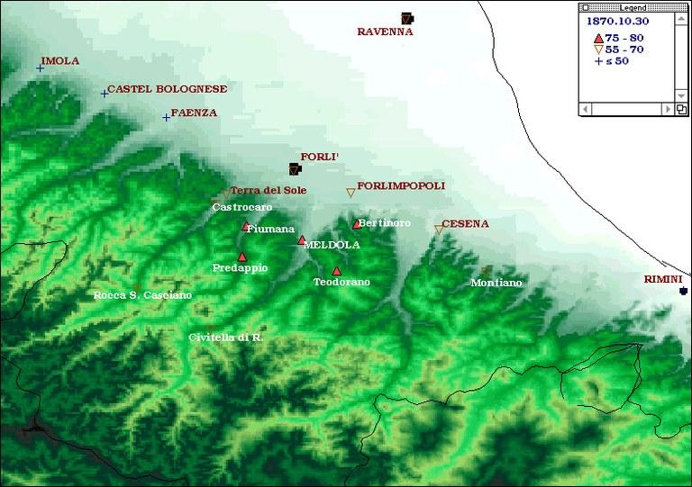 Terremoti del 1870 - Meldola