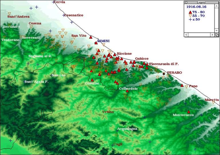 Terremoti del 1916 - Alto Adriatico