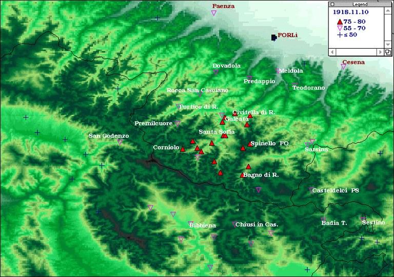 Terremoti del 1918 - Appennino romagnolo