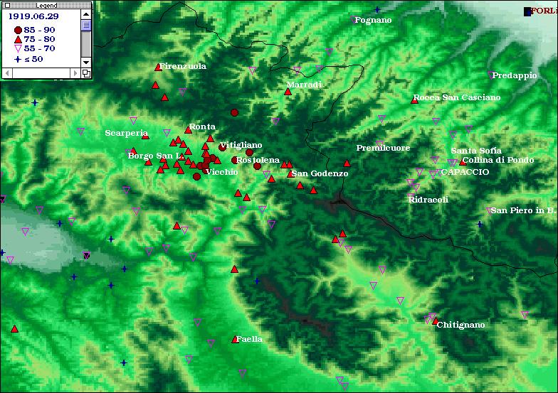 Terremoti del 1919 - Mugello