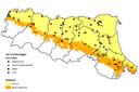 Distribuzione dei siti di monitoraggio in funzione degli usi del suolo