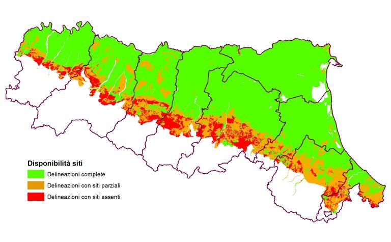 pagina Siti locali rappresentativi dei suoli emiliano-romagnoli