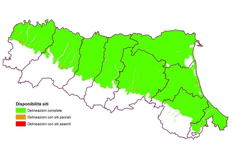 Siti locali rappresentativi dei suoli emiliano-romagnoli