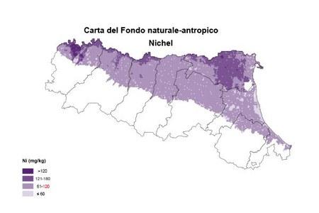 Carta Fondo naturale antropico Nichel
