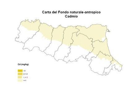 Carta Fondo Naturale antropico Cadmio