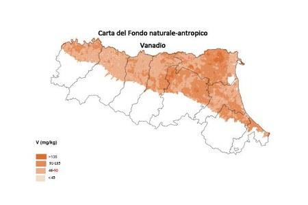 Carta Fondo naturale antropico Vanadio
