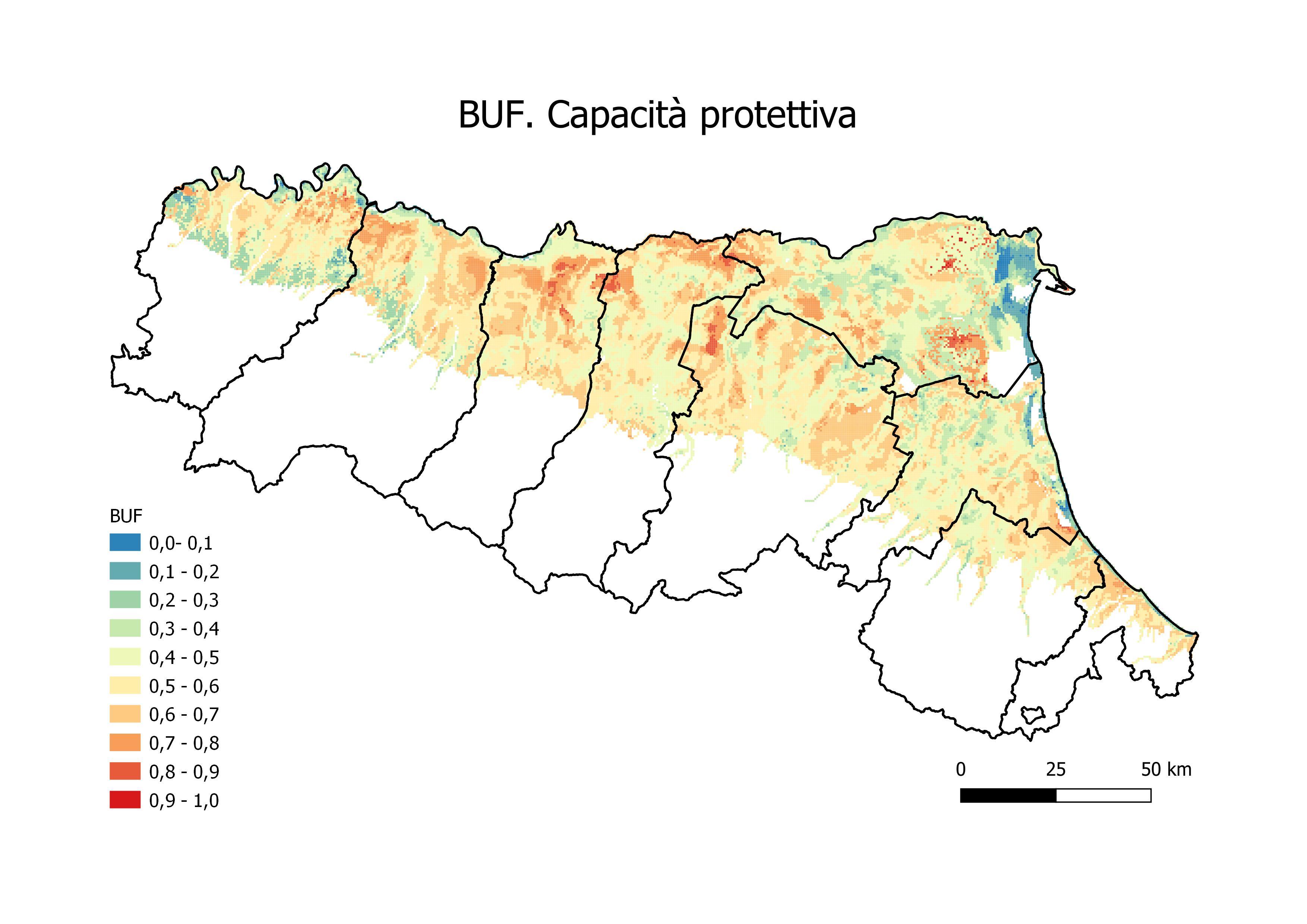 b) BUF. Capacità protettiva