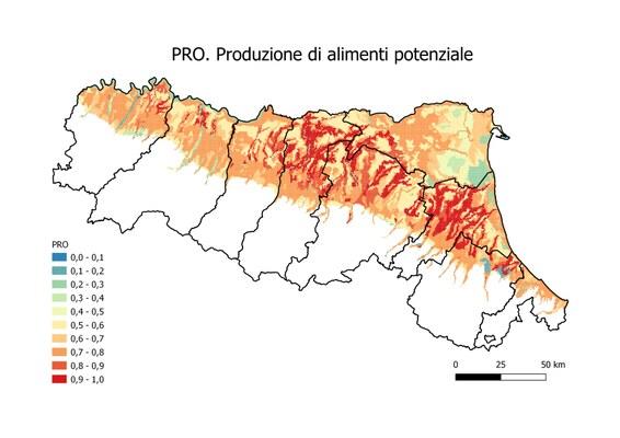 e) PRO. Produttività agricola