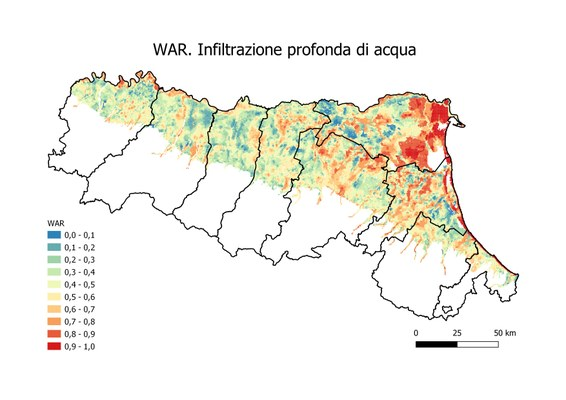 g) WAR. Infiltrazione profonda d'acqua