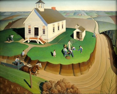 Grant Wood, Arbor Day (1932)