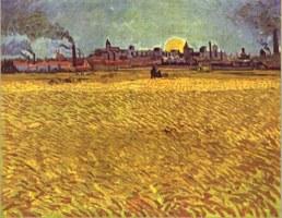 Van Gogh, Champs de blé à Arles, 1888. Kunstmuseum, Winterthur