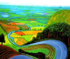 David Hockney, Garrowby Hill, 1998. Museum of Fine Arts, Boston