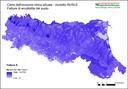 Carta dell'erosione idrica attuale - modello RUSLE Fattore di erodibilità del suolo