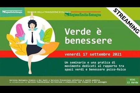 Verde è benessere | Evento 17 settembre 2021 | ViVi il verde, VIII edizione