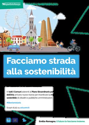 """Locandina """"Bike to work"""" Comuni con popolazione superiore a 50.000 abitanti"""