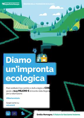 Locandina bando 2021 sostituzione di impianti di riscaldamento civile a biomassa