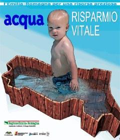 "Locandina ""Acqua risparmio vitale"""