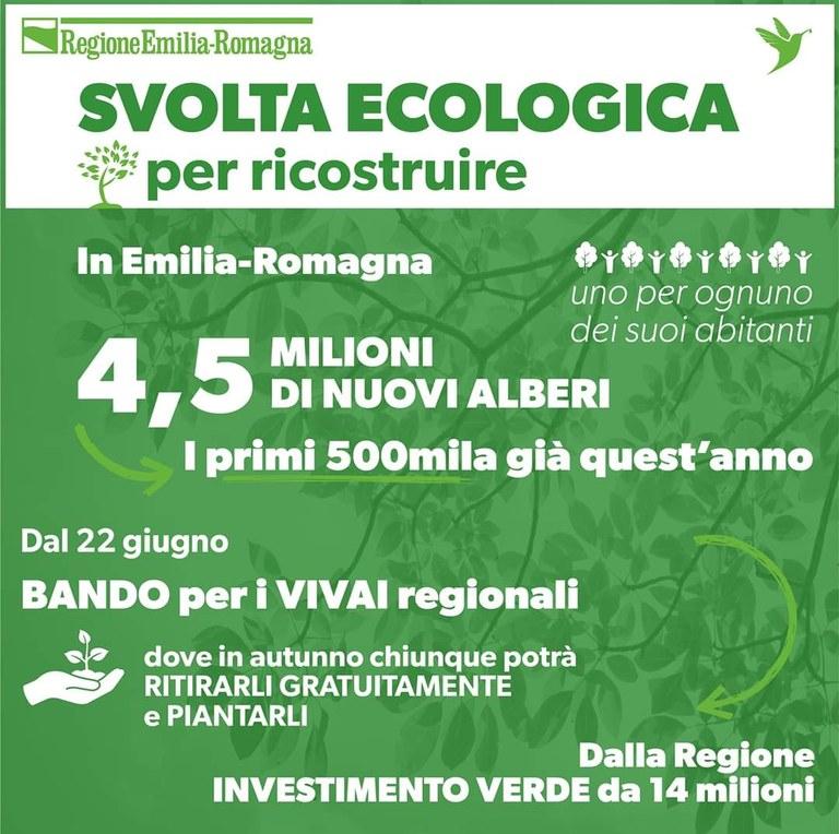Svolta ecologica per ricostruire