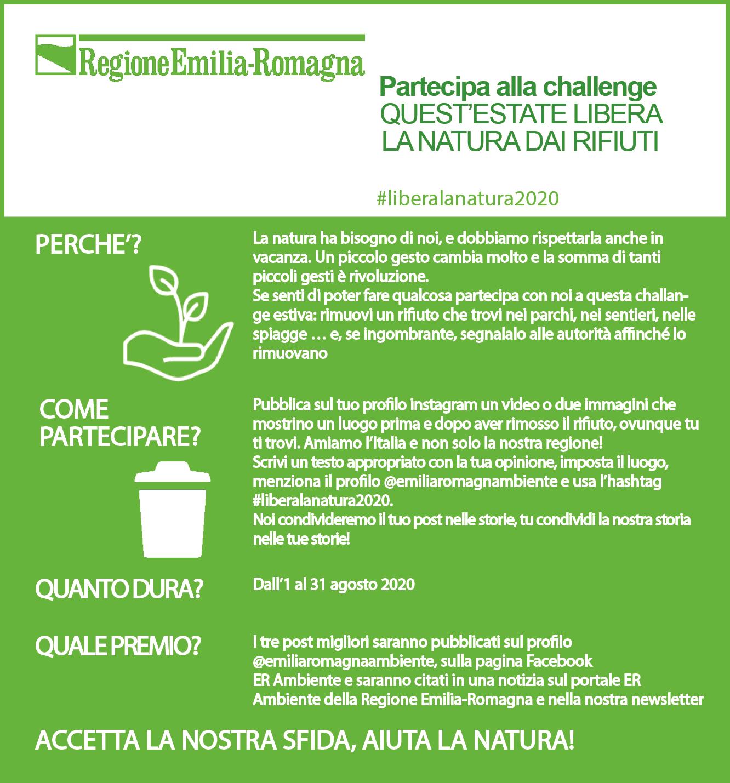 Quest'estate libera la natura dai rifiuti! Al via la sfida su Instagram #liberalanatura2020