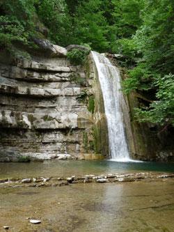 Foto: cascata al Parco delle Foreste Casentinesi (autore: MV Biondi)
