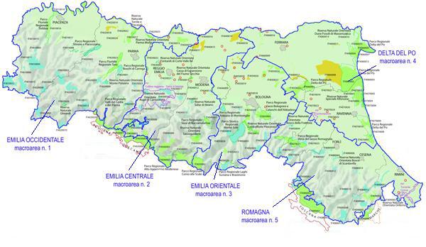 Mappa Macroaree