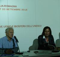 Foto: il presidente Giovanelli e l'Assessore Gazzolo al convegno sul Mab ad Expo 2015