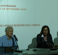 Picture: President Giovanelli and Regional Minister Gazzolo during the conference on Mab at Expo 2015