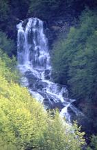 foto: cascate del Doccione: compiono una suggestiva serie di saltiche in inverno creano spettacolari sculture di ghiaccio - Archivio Parco