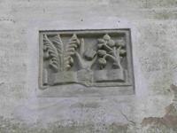 foto: formella dell'antico Ospitale dei Sassi - Archivio Parco