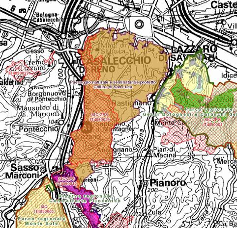 Carta Paesaggio protetto Colline di San Luca