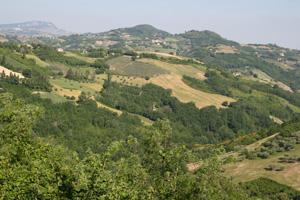 Paesaggio collinare del Rio Montepietrino - autore Lino Casini