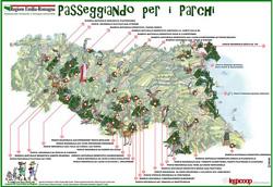 Poster Passeggiando per i parchi