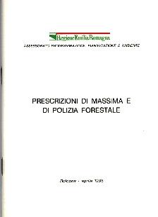 Copertina della pubblicazione cartacea, attualmente esaurita. Archivio Servizio Parchi e Risorse forestali RER