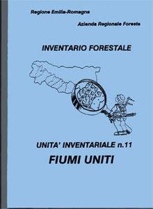 Copertina della relazione contenente i primi risultati inventariali del bacino Fiumi Uniti, la cui presentazione avvenne a Forlì nell'ottobre 1992. Immagine archivio Servizio Parchi e Risorse forestali RER