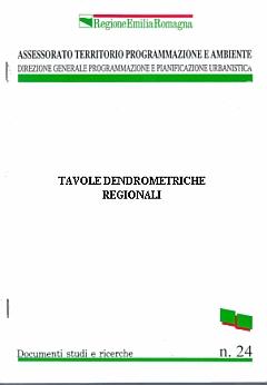 Copertina della pubblicazione cartacea nei tipi della Collana Documenti studi e ricerche dell'Assessorato Ambiente. Archivio Servizio Parchi e Risorse forestali RER