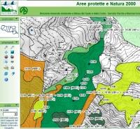 Esempio di cartografia a video prodotta col GisWeb. Archivio Servizio Parchi e Risorse forestali