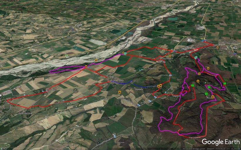 Vista 3D Itinerario su Google Earth