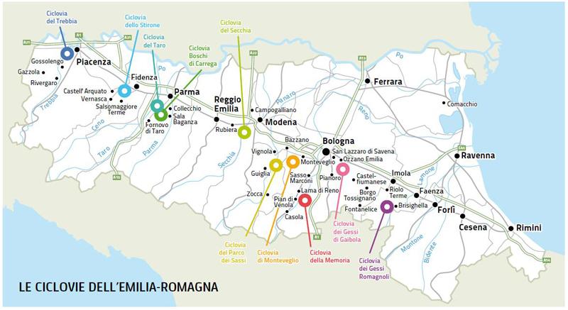 Mappa ciclovie - quadro di unione