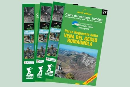 E' uscita la nuova carta escursionistica del Parco della Vena del Gesso Romagnola