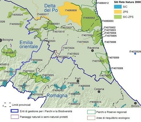 Rete Natura 2000 nella Provincia di Ravenna