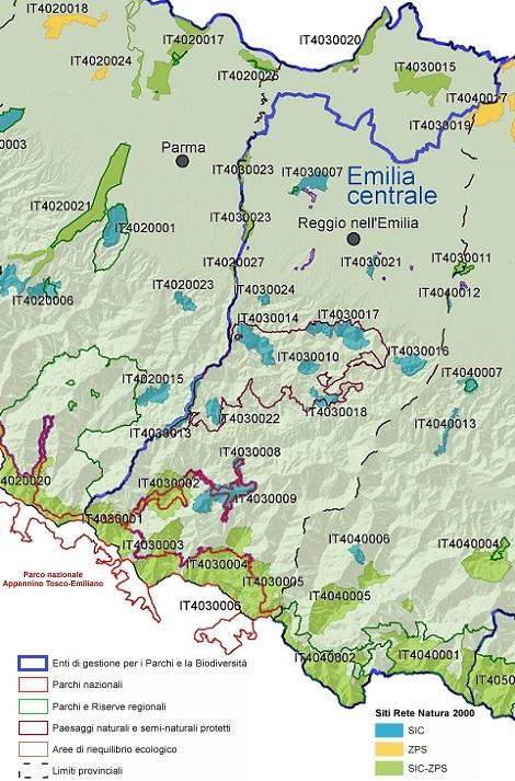 Rete Natura 2000 nella Provincia di Reggio-Emilia