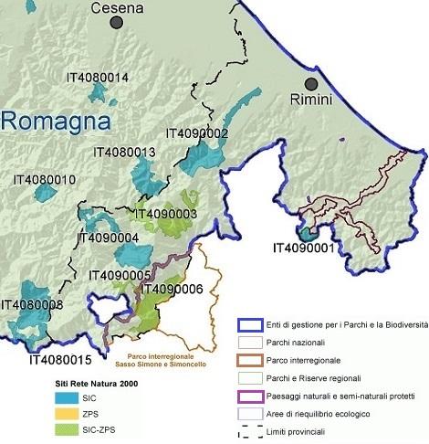 Rete Natura 2000 nella Provincia di Rimini