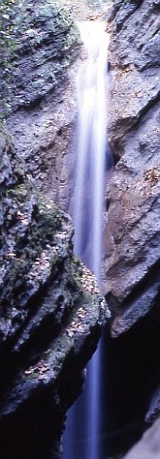 Forra e cascata del Rio Albonello (RA). Foto Stefano Bassi