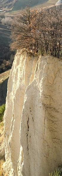 Rupe argillosa nel basso Appennino romagnolo. Foto Stefano Bassi