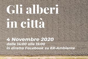 Webinar 4 novembre 2020 alberi in città