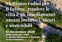 Rendere città e insediamenti umani inclusivi, sicuri e sostenibili (webinar 13 novembre 2020)