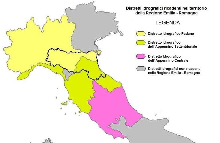 Distretti Idrografici nella RER