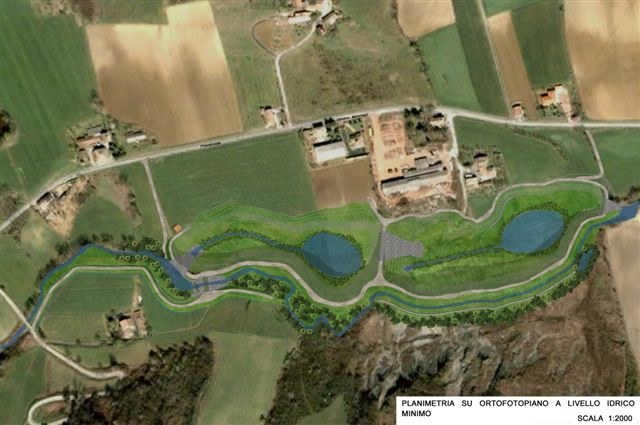 Recchio - rendering lago minimo